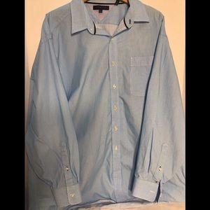 Tommy Hilfiger men dress shirt size 18-1/2. 34-35